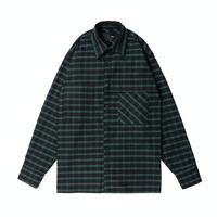 『 BY.L 』    カバーチェックシャツ (Green)
