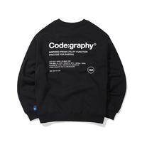 『Code:graphy』  レファレンスロゴスウェット (Black)