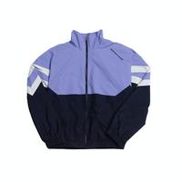 『Motivestreet』  ニューレトロカラーブロックトラックジャケット (Lavender)