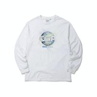 『Code:graphy』  アースロゴロングスリーブ Tシャツ (White)