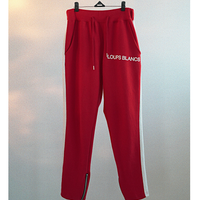 『LOUPS BLANCS』SIDE LINE ZIPPER TRACK PANTS (Red)