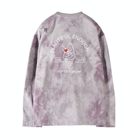 『MOTIVESTREET』   アイスクリームタイダイロングスリーブTシャツ (Purple)