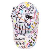 『BLACKBLOND』  プレートロゴキャップグラフィティーVer.  (White)