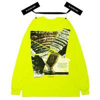 『BLACKBLOND』  クラッシュドエラロングスリーブ Tシャツ (Neon)