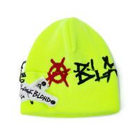 『BLACKBLOND』    グラフィティーロゴパッチニット帽 (Neon)