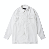 『 BY.L 』  オーバーサイズジッパーシャツジャケット (White)