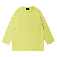 『 BY.L 』  ダブルネックオーバーサイズ Tシャツ (YellowGreen)