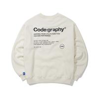 『Code:graphy』  レファレンスロゴスウェット (Cream)
