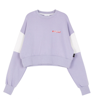 Motivestreet CROP TOP SWEAT SHIRT (Purple)