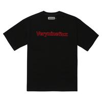 『Verynineflux』  ダイアゴナル Tシャツ (Black)
