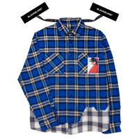 『BLACKBLOND』 インフェルノレイヤードチェックシャツ (Blue)