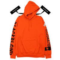 『BLACKBLOND』 グラフィティーナンバーパーカー (Orange)