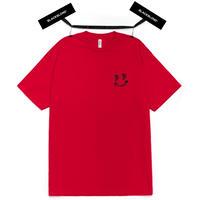 『BLACKBLOND』  クラシックスマイルロゴ半袖 Tシャツ (Red)