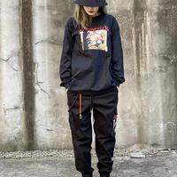 『BLACKBLOND』  マーベリックロングスリーブ Tシャツ (Black)