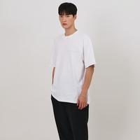 『 BY:L 』    ステッチアンネックTシャツ (White)