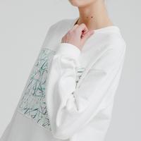 『MOTIVESTREET』   ブラシスウェットシャツ  (White)