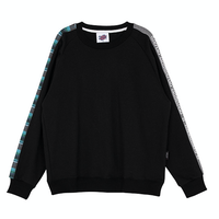 Motivestreet CHECK BAND SWEAT SHIRT (Black)