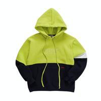 『Motivestreet』ハーフ ライン フードパーカー (Lime)