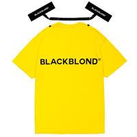 『BLACKBLOND』 クラシックスマイルロゴショートスリーブ Tシャツ (Yellow)