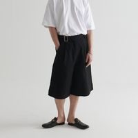 『BY.L 』 バミューダコットンパンツ (Black)