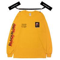『BLACKBLOND』  ブルータルロングスリーブ Tシャツ (Yellow)