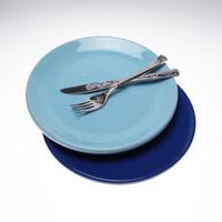 【ライトブルー26㎝】ぽってりと温もりのあるイタリアトスカーナのお皿