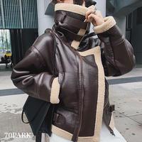 #Faux Leather Mustang Jacket  ビッグ ショール フェイクレザー ムスタン ジャケット  全2色