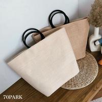 #Big Basket Tote Bag 大容量 かご トートバッグ 全2色 A4収納可