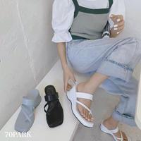#Cross Tongs sandals  クロス トング 厚底 ウエッジソール サンダル 全3色