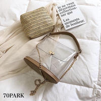 #Clear Chain Bag With Inner Pouch  ポーチ付き クリア チェーン ショルダーバッグ 全3色
