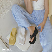 #Tongs Sandals  幅広 トング 厚底 ウエッジソール サンダル 全3色