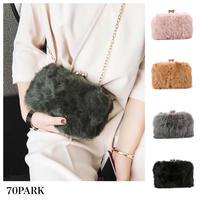 #Fur Box Shoulder Bag  ファー ボックス チェーン ミニ バッグ 全6色  パーティーバッグ