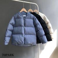 #シンプル 中綿 ショート ジャケット 全3色 ダウン