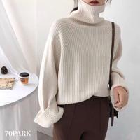 #Wide Sleeve Turtleneck Sweater  ワイドスリーブ タートルネック ニット 全6色