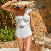 #One Shoulder Twist Swimsuit  ワンショルダー ツイスト ワンピース 水着  全4色