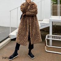 #Faux Fur Leopard Coat レオパード柄 フェイクファー ロング コート 全3色