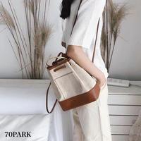 #Canvas Mini Backpack   メタルハンドル キャンバス ミニ バックパック 全2色
