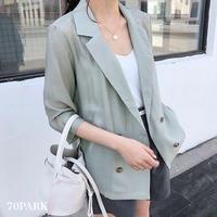 #Sheer Tailored Jacket シアー テーラード 七分袖 ジャケット 全3色