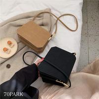 #カラー フェイクレザー シンプル ミニ ショルダーバッグ 全4色
