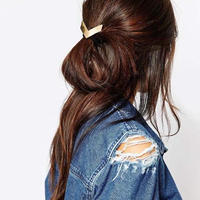 #V-shaped Hair Elastic V字型ゴールドヘアゴム