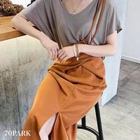 #One Shoulder Jumper Skirt ワンショルダー ハイウエスト ジャンパー スカート 全2色