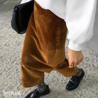 #Side Slit Corduroy Midi Skirt サイドスリット カラー コーデュロイ スカート 全4色