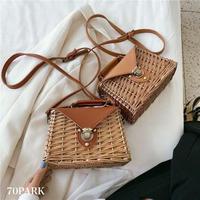 #Faux Leather Flap Basket Bag フェイクレザー フラップ ボックス型 かごバッグ 全2色