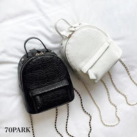 #2way Chain Mini Backpack  チェーンショルダー ミニ バックパック 全2色