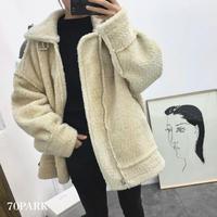 #Oversized Boa Jacket  オーバーサイズ ベルテッド ボア ジャケット 全2色