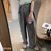 #Wrap Pants カシュクール ラップ ワイド パンツ 全2色