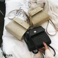 #Braided Paper Basket Bag   パール付 ペーパー素材 かご ミニ  ショルダーバッグ 全3色