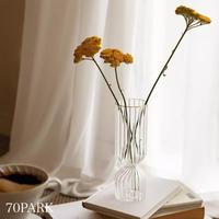 #ストライプ クリア ガラス フラワーベース 花瓶