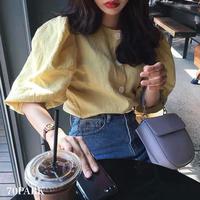 #2way Volume Sleeve Blouse  ボリューム袖 半袖 ブラウス 全2色