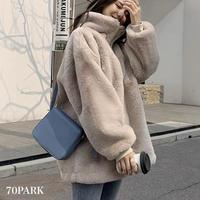 #Half Zip Faux Fur Sweatshirt ハーフジップ フェイクファー オーバーサイズ ブルゾン 全5色